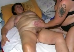 Grown-up chubby Granny has massage from BBW aged Nurse