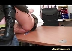 18-19 y.o. Naughty slut receives punished with anal