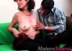 real horny housewife getting down and dirty