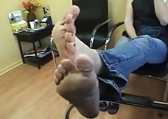 aged clerk feet