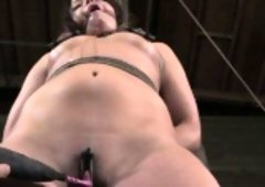 Frogtie hogtied whore being suspended