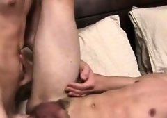 Sex Appeal gay Nick arches Caleb over the bed and plus inches his fat c