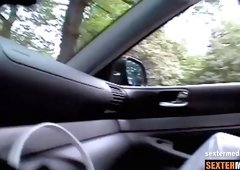Hawt Fuesse - Hidden Cam im Auto